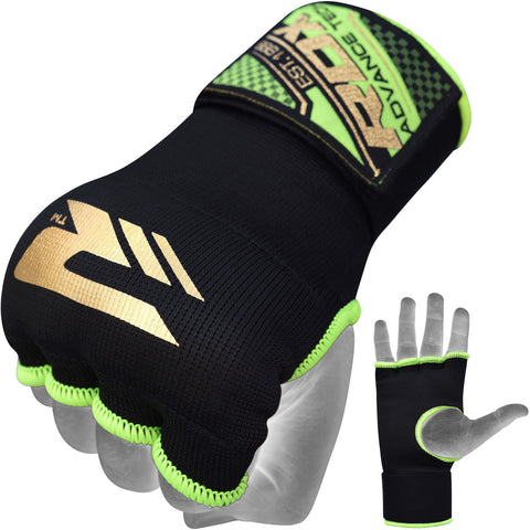 RDX BLACK AND GREEN INNER GLOVE HYP-ISGN FIST