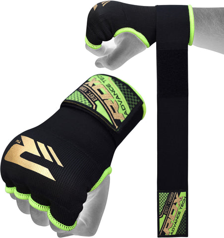 Image of RDX BLACK AND GREEN INNER GLOVE HYP-ISGN FIST