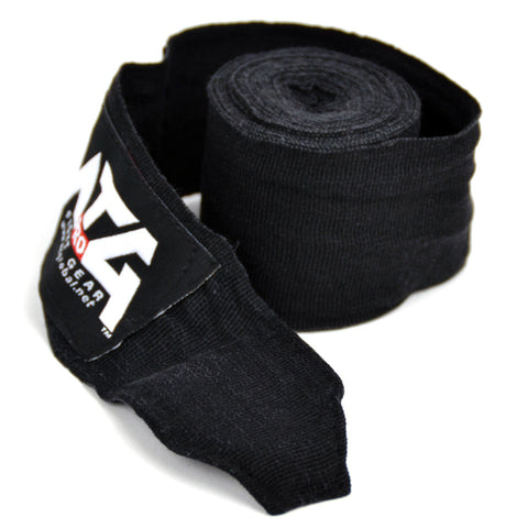 Image of MTG Pro 5m Black Elasticated Hand Wraps Close Up