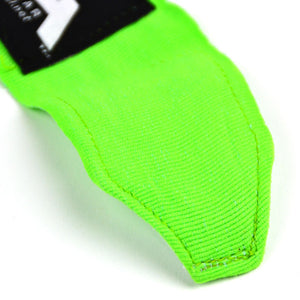 MTG Pro 5m Lime Green Elasticated Hand Wraps Stitching