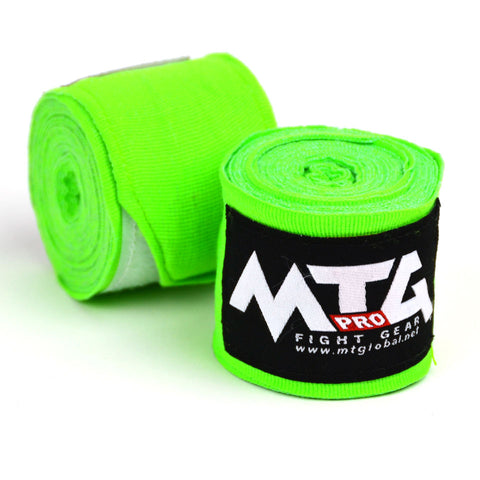 MTG Pro 5m Lime Green Elasticated Hand Wraps