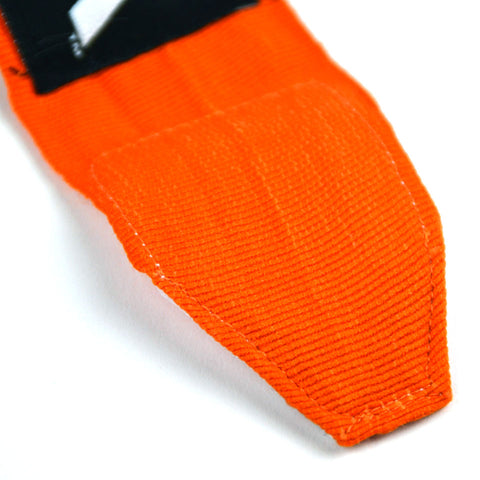 MTG Pro 5m Orange Elasticated Hand Wraps Stitching