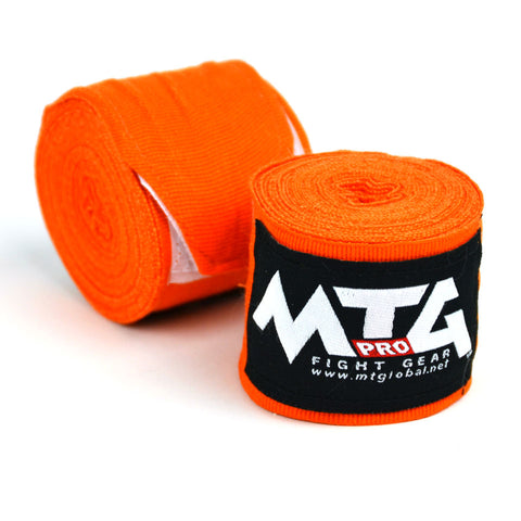 Image of MTG Pro 5m Orange Elasticated Hand Wraps
