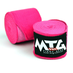 MTG Pro 5m Pink Elasticated Hand Wraps