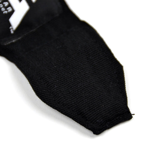Image of MTG Pro 5m Black Elasticated Hand Wraps Stitching