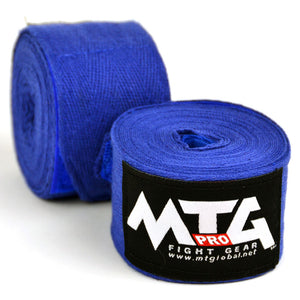 MTG Pro 5m Blue Elasticated Hand Wraps