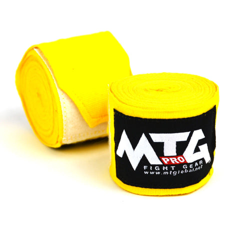 MTG Pro 5M Yellow Elasticated Hand Wraps