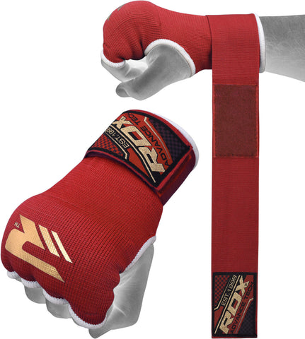 Image of RDX HYP-ISR INNER GLOVE RED STRAP DETAIL