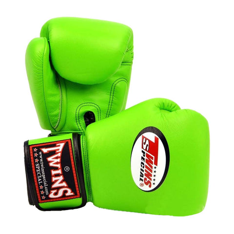 Twins Special BGVL3 Gloves (Lime Green) Pair Side View
