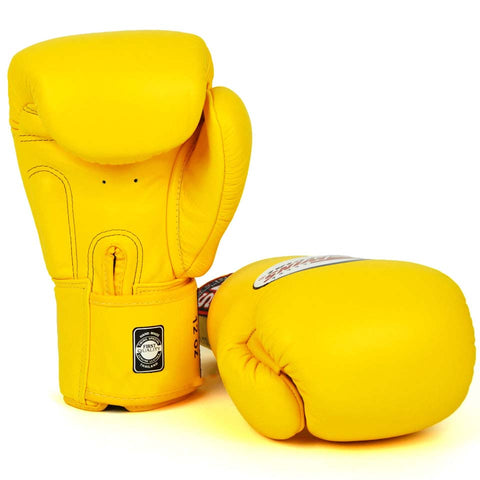 Image of Twins Special BGVL3 Gloves (Yellow) Pair Palm Side