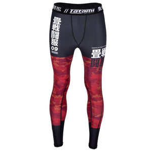 Tatami Adults Essential Camo Spats Leggings - Red
