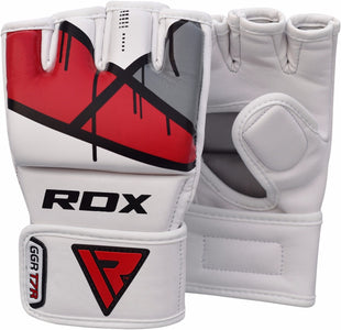 RDX T7 EGO MMA GRAPPLING GLOVES - RED