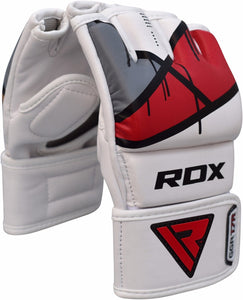 RDX T7 EGO MMA GRAPPLING GLOVES - RED PAIR