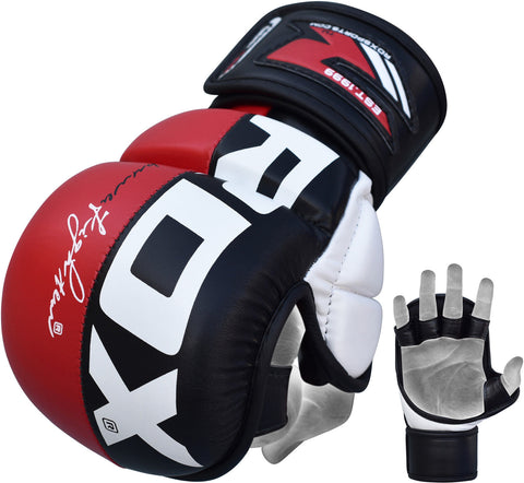 Image of RDX MMA GRAPPLING GLOVES REX T6 - RED