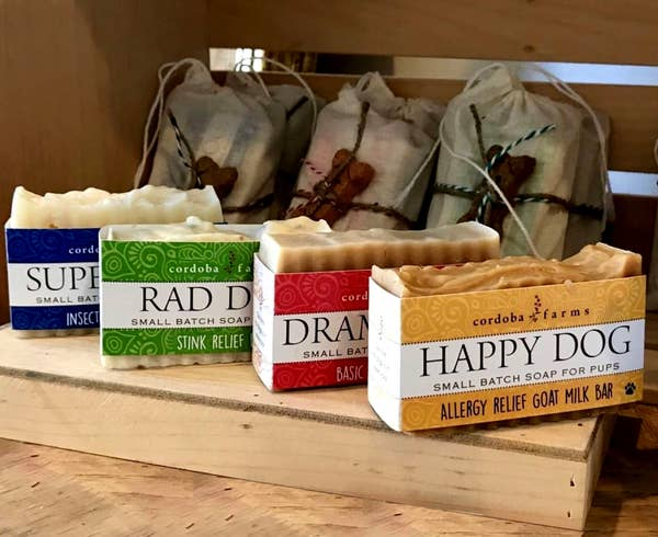 Cordoba Farms Small Batch All Natural Dog Soap - Multiple Varieties