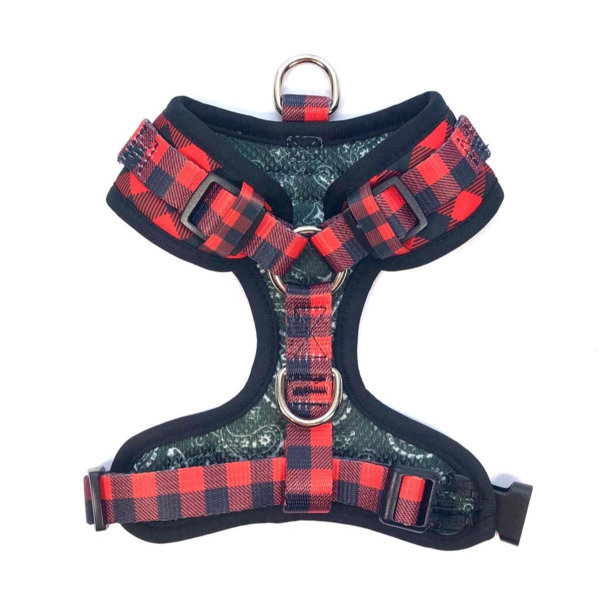Red Plaid Control Harness by Bcuddley