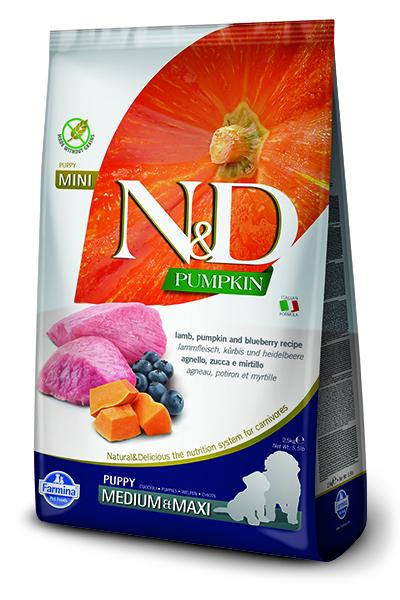 N&D Pumpkin Grain Free Lamb & Blueberry Puppy by Farmina