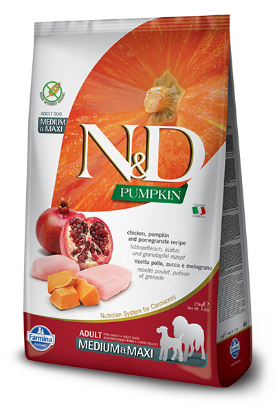 N&D Pumpkin Grain Free Chicken & Pomegranate Adult Dog by Farmina