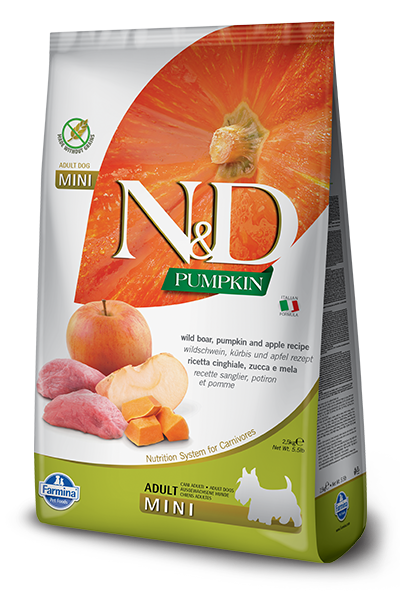 Farmina N&D Grain Free Pumpkin, Boar and Apple Adult Mini Dry Dog Food