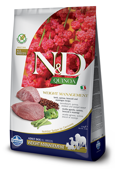 N&D Quinoa Weight Management Lamb Adult Dog by Farmina