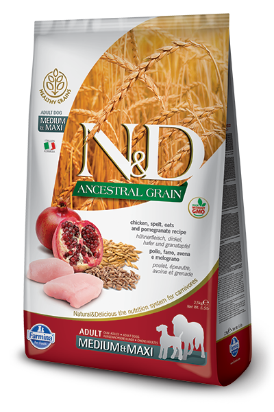 N&D Ancestral Grain Chicken & Pomegranate Adult Dog by Farmina