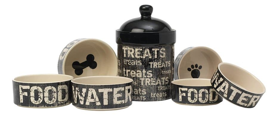 Petrageous Vintage Treat Jar Black & Natural