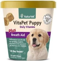 NaturVet VitaPet Puppy Daily Vitamins Plus Breath Aid