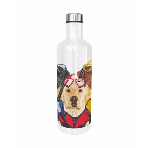 Three Musketeers Metal Water Bottle Labrador Retrievers