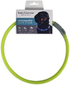 Bow & Arrow Rechargeable Light Up Dog Neck Band