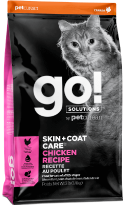 Petcurean GO! Skin & Coat Care Chicken Dry Cat Food