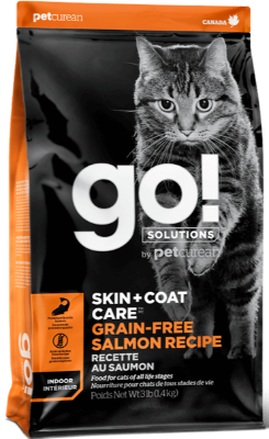 Petcurean GO! Skin & Coat Care Grain Free Salmon Dry Cat Food