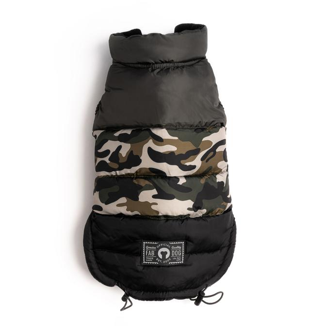 Camo Color Block Puffer by fabdog