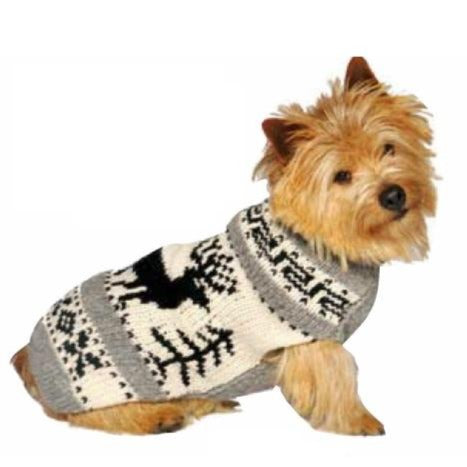 Chilly Dog Reindeer Shawl Dog Sweater