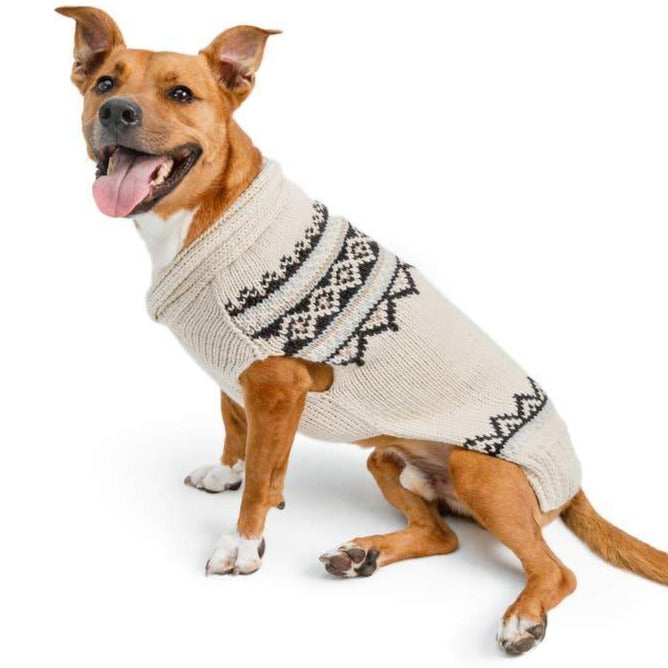 Chilly Dog Alpaca Cream Wyatt Dog Sweater