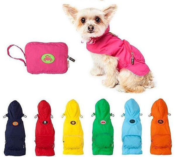 Fabdog Packaway Raincoats - Green