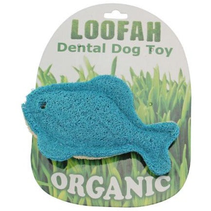 Organic Loofah Vegetable Dental Dog Toys - Fish