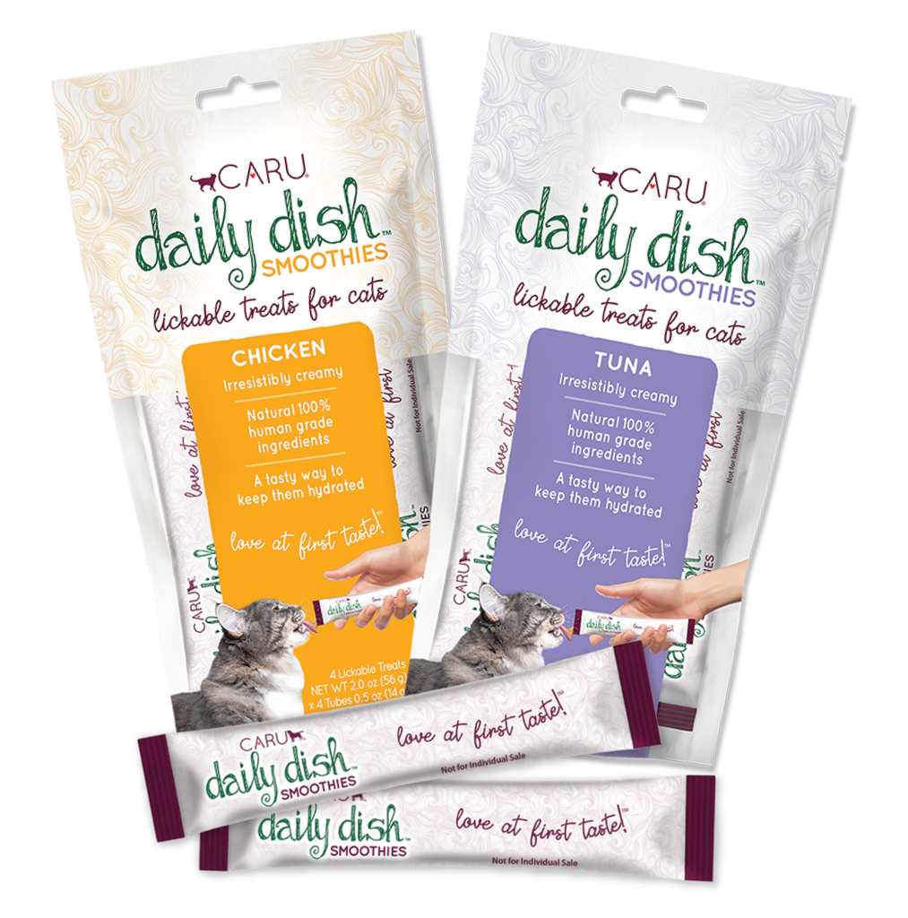 Caru Daily Dish Smoothies Lickable Cat Treats - Tuna