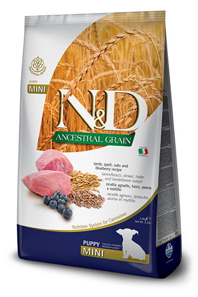 N & D Ancestral Grain Lamb & Blueberry Puppy by Farmina