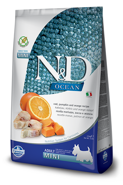 N&D Ocean Grain Free Cod, Pumpkin & Orange Adult Dog by Farmina