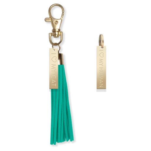 Coordinating Key Chain with Cat Collar Charm
