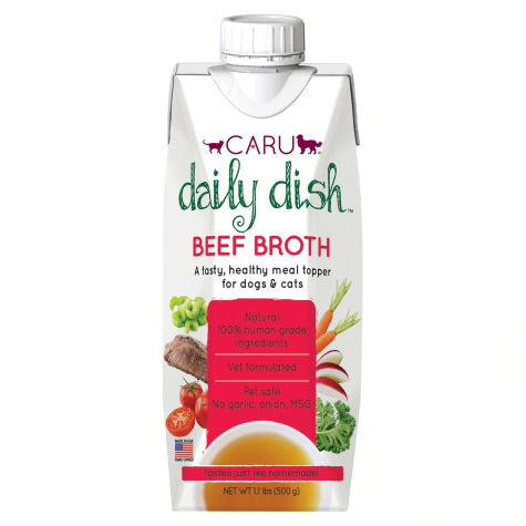 Caru Daily Dish Broth Meal Topper for Dogs and Cats
