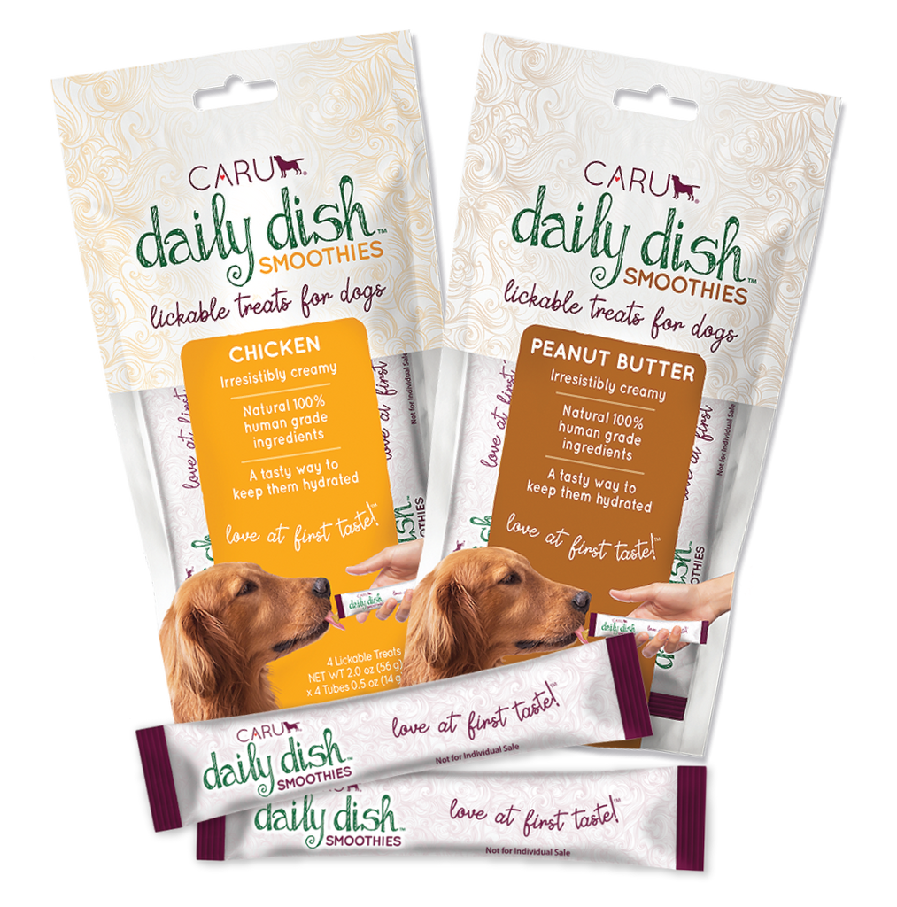 Caru Daily Dish Smoothies Lickable Dog Treats - Chicken