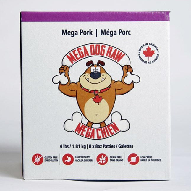 Mega Dog Pork Patties - 4lb