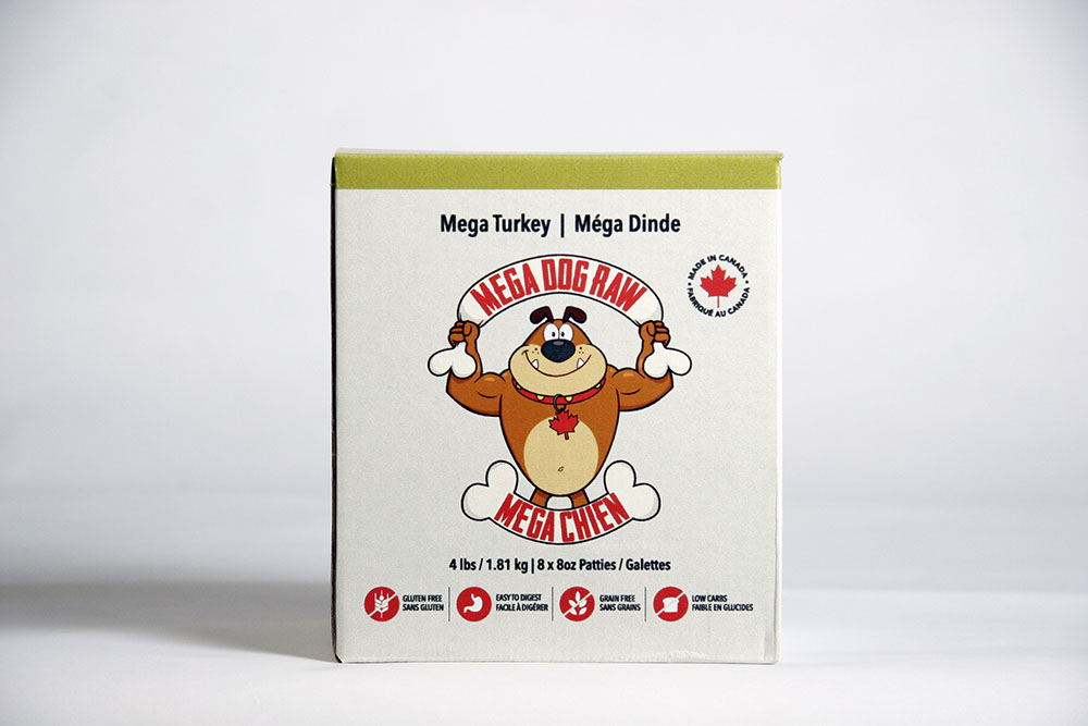 Mega Dog Turkey Patties - 4lb