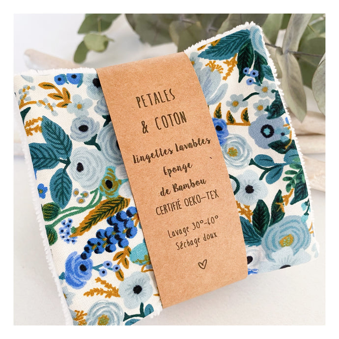 Lingettes bambou Rifle Paper & Co Garden Party Bleu
