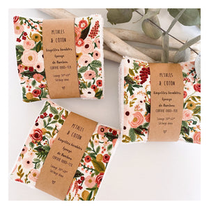 Lingettes bambou Rifle Paper & Co Garden Party Rose