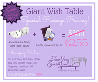 GIANT WISH TABLE PACKAGE