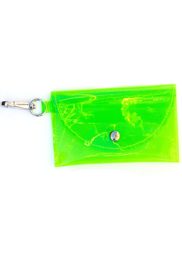 LANA CARD HOLDER - LIME - KEY RING HOOK