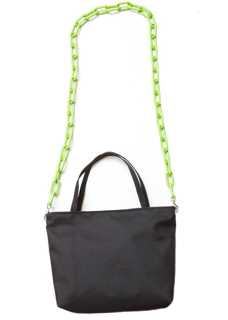 Stella Mini Tote - Waterproof Canvas with Lime Chain