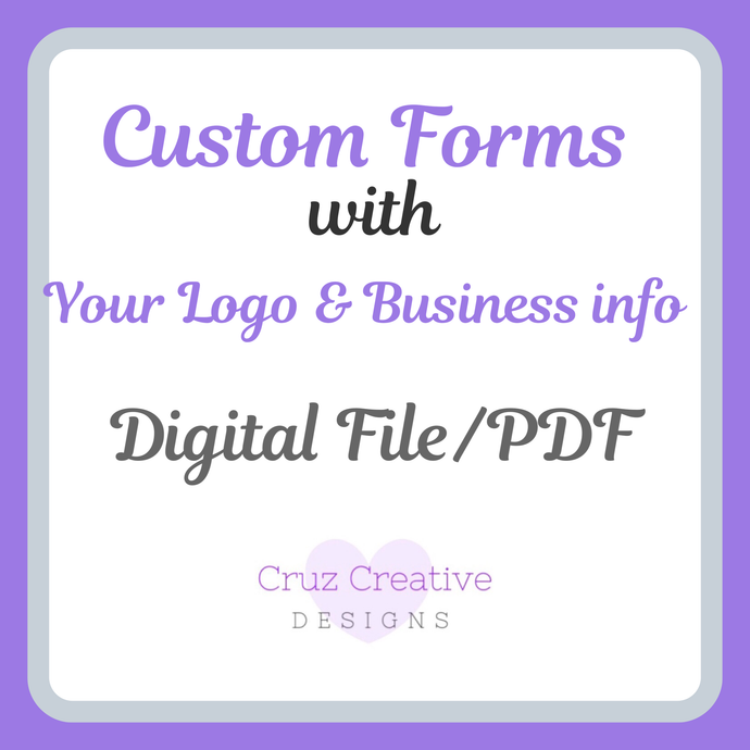 Custom PDF Form w/ YOUR LOGO